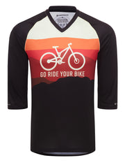 Factory Second - Go Ride Your Bike (Horizon) - MTB Tech 2.0 Jersey (3/4 Sleeve)