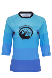 WOMEN'S COGNATIVE STANDARD ISSUE - 3/4 SLEEVE TECH 2.0 JERSEY (TEAL/BLUE)