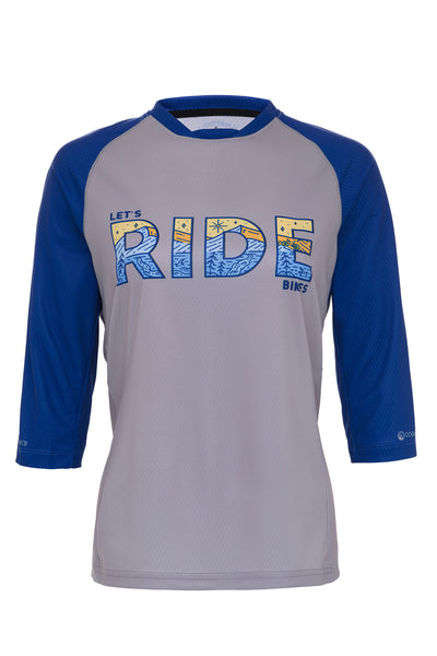 WOMEN'S LET'S RIDE BIKES - 3/4 SLEEVE TECH 2.0 JERSEY