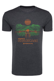 "IN SEARCH OF SINGLETRACK ""GRID"" SHIRT  (CHARCOAL)"