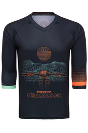 "IN SEARCH OF SINGLETRACK ""GRID"" - TECH JERSEY (2 SLEEVE LENGTH OPTIONS)"