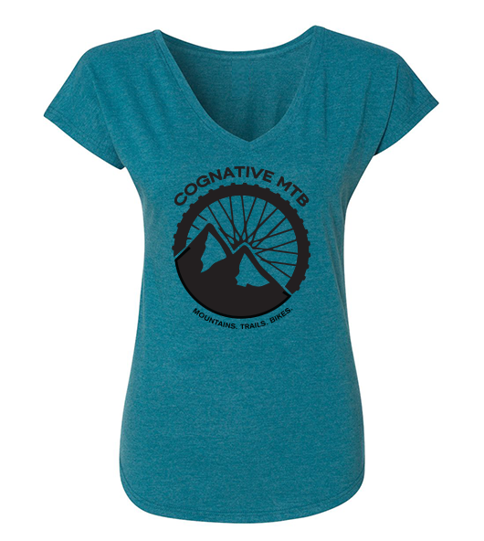 COGNATIVE LOGO WOMEN'S SHIRT  (GALAPAGOS BLUE)