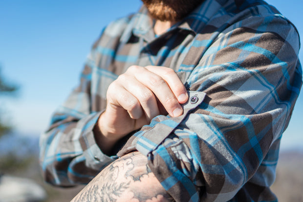 Men's Cognative Technical Flannel (Grey/Blue)