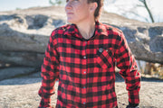 Women's Cognative Technical Flannel - Factory Second (Buffalo Red )