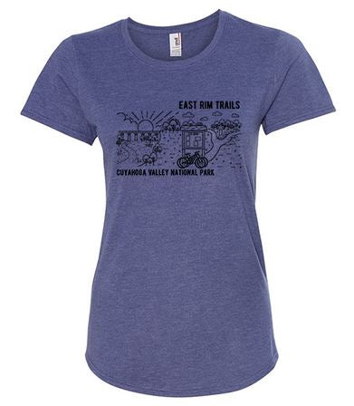 PRE-ORDER Women's East Rim Shirt (Heather Blue)