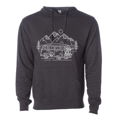 In Search of Singletrack Unisex Hoodie (Heather Charcoal)