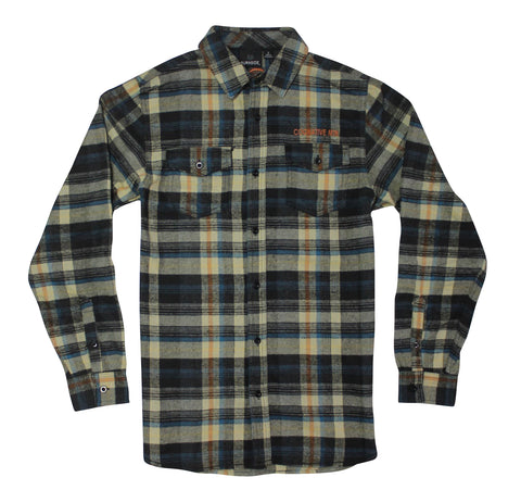COGNATIVE MTB LOGO FLANNEL (BLUE/ORANGE)