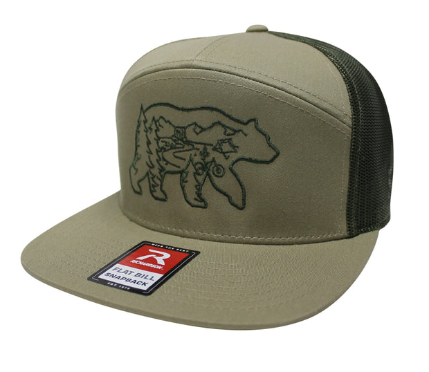 THE BEAR NECESSITIES - 7 PANEL TRUCKER (TAN/ARMY)