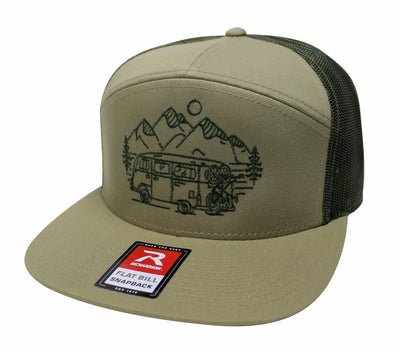 IN SEARCH OF SINGLETRACK - 7 PANEL TRUCKER (TAN/ARMY)