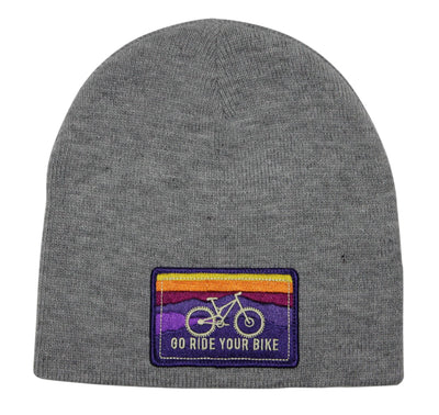 GO RIDE YOUR BIKE BEANIE (HEATHER GREY)