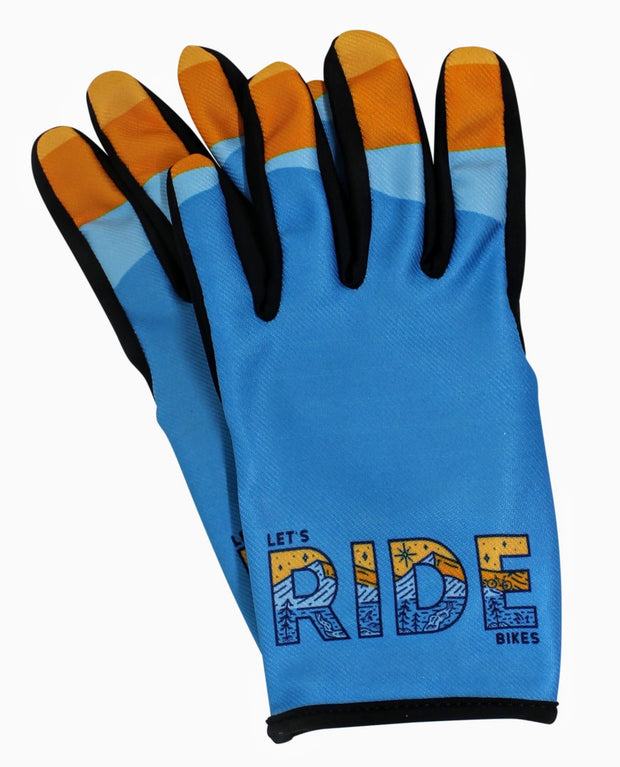 Let's Ride Bikes mountain bike glove