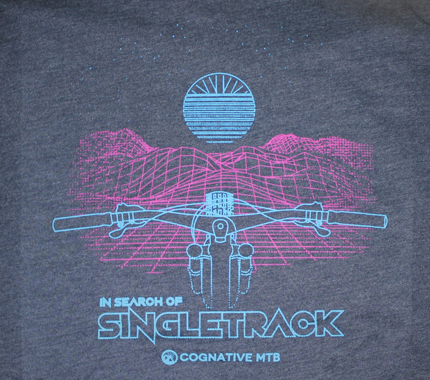 "IN SEARCH OF SINGLETRACK ""GRID"" SHIRT  (MIDNIGHT NAVY)"