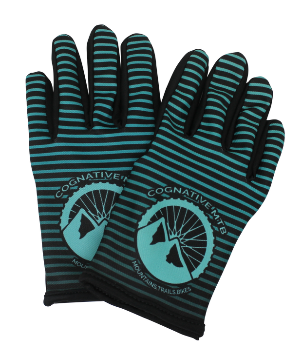 Teal Mountain Bike Gloves