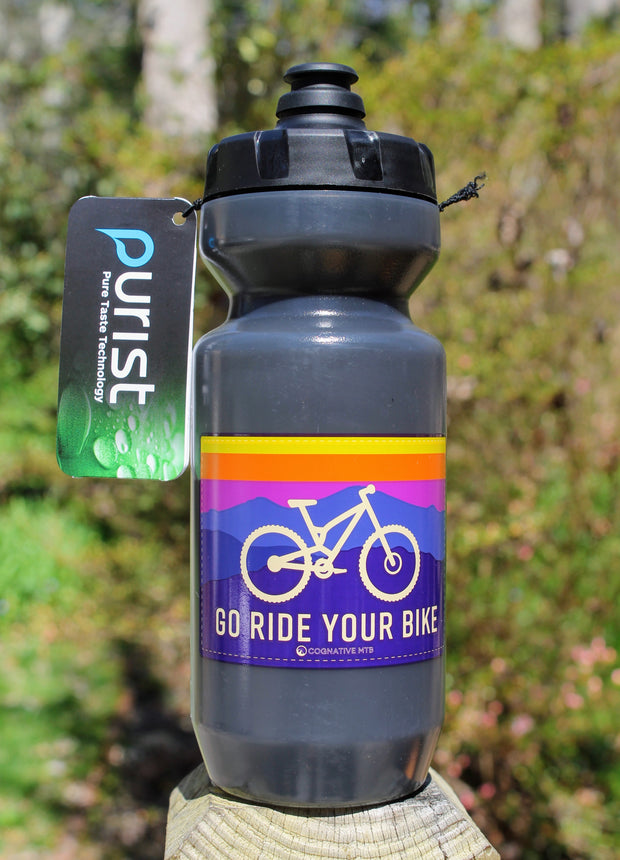 GO RIDE YOUR BIKE PURIST WATER BOTTLE 22oz (4 Color Options)