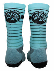 Teal Mountain Bike Socks