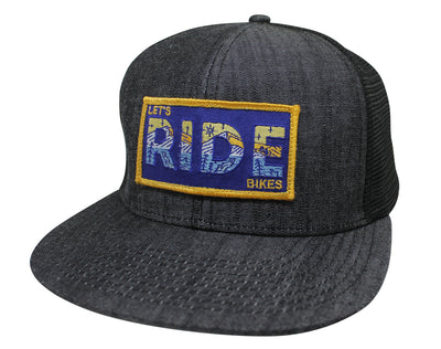 LET'S RIDE BIKES - GREY DENIM TRUCKER