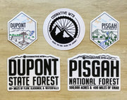 Pisgah and Dupont Stickers