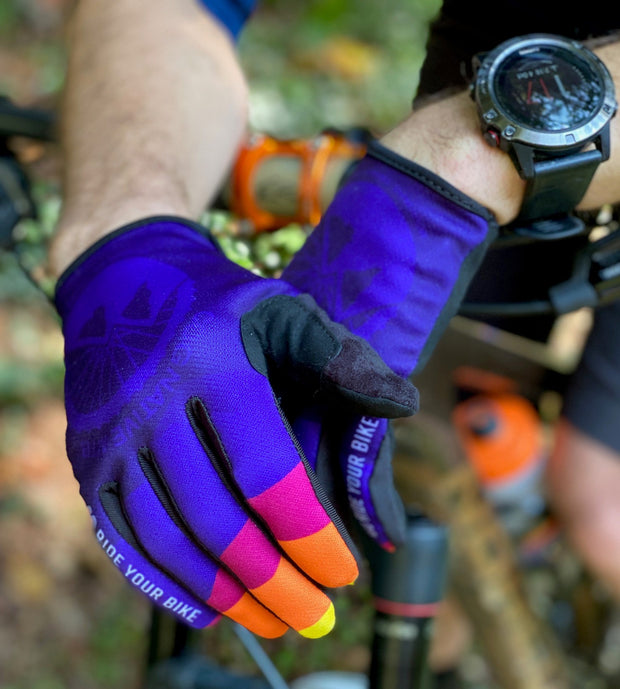 Purple Go Ride Your Bike MTB Gloves