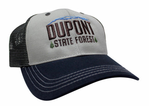 "DUPONT STATE FOREST ""CEDAR ROCK"" MESH BACK HAT (2 COLOR OPTIONS)"