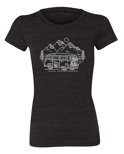 In Search of Singletrack Women's Shirt (Heather Charcoal)