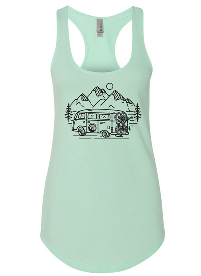 IN SEARCH OF SINGLETRACK WOMEN'S TANK  (MINT)