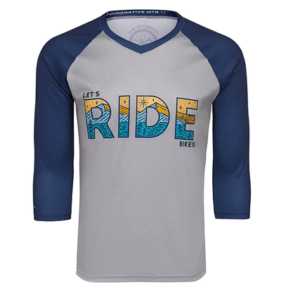 LET'S RIDE BIKES - 3/4 SLEEVE MTB TECH JERSEY