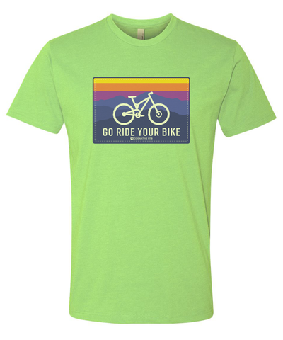 GO RIDE YOUR BIKE SHIRT APPLE GREEN