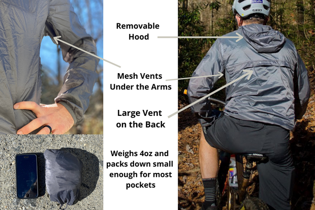 Men's Adapt Packable Jacket (Gunmetal Gray)