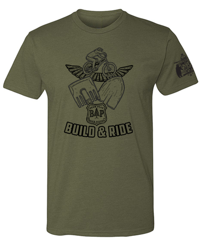 BERM PEAK BUILD AND RIDE SHIRT (MILITARY GREEN)