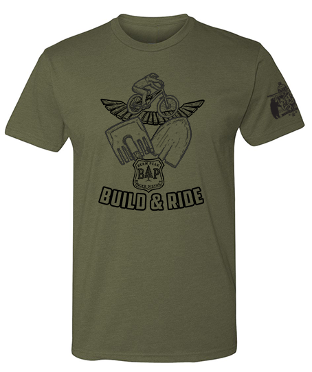 BERM PEAK BUILD AND RIDE SHIRT - MILITARY GREEN (2 SLEEVE LENGTH OPTIONS)
