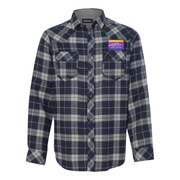 GO RIDE YOUR BIKE FLANNEL (NAVY/GREY)