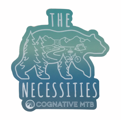 The Bear Necessities Mountain Bike Sticker