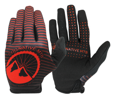 Cognative Red Mountain Bike Gloves