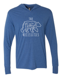 THE BEAR NECESSITIES UNISEX T-SHIRT HOODIE (HEATHER BLUE)