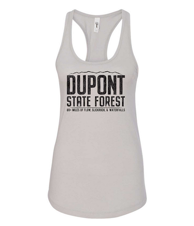 DUPONT STATE FOREST FLOW WOMEN'S RACERBACK TANK (SILVER)