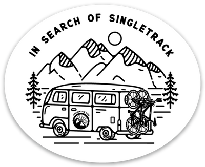 IN SEARCH OF SINGLETRACK - STICKER