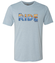 Let's Ride Bikes mtb t-shirt blue