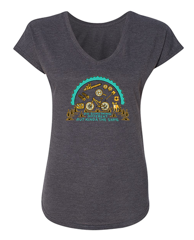 BERM PEAK DO SOMETHING DIFFERENT - WOMEN'S SHIRT (HEATHER CHARCOAL)