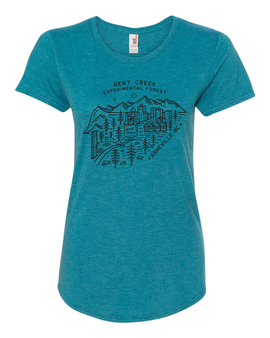BENT CREEK WOMEN'S SHIRT (Galapagos Blue)