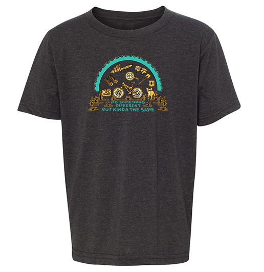 BERM PEAK DO SOMETHING DIFFERENT - YOUTH SHIRT (HEATHER CHARCOAL)