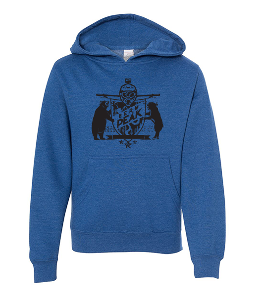 BERM PEAK YOUTH HOODIE (HEATHER BLUE)