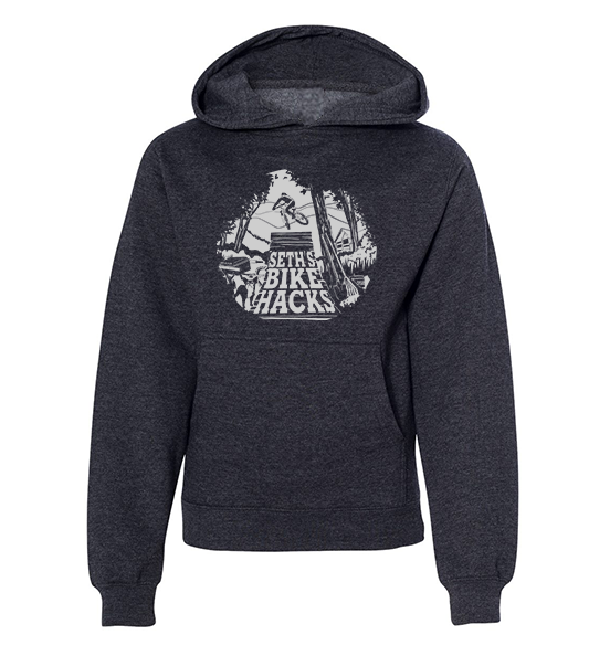 SETH'S BIKE HACKS YOUTH HOODIE (CHARCOAL)