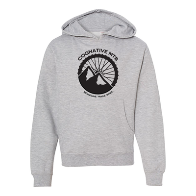 Cognative Logo Youth Hoodie (Light Heather Grey)