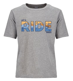 Let's Ride Bikes mtb youth t-shirt