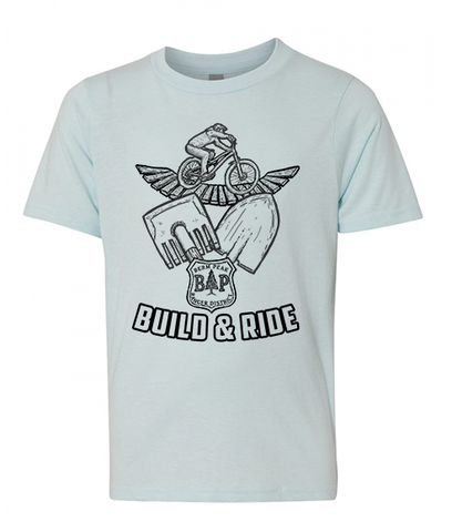 BERM PEAK BUILD AND RIDE YOUTH SHIRT (ICE BLUE)