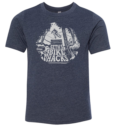 SETH'S BIKE HACKS YOUTH SHIRT (MIDNIGHT NAVY)