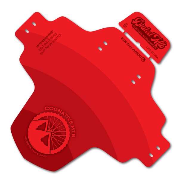 MTB Mudguard - Cognative Logo (Full Color Red)