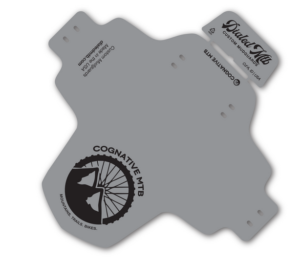 MTB Mudguard - Cognative Logo (Single Color Grey)