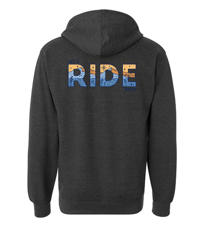 LET'S RIDE BIKES - UNISEX HOODIE (HEATHER CHARCOAL)