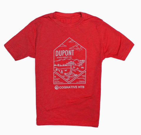 Dupont State Forest Youth Mountain Bike Shirt